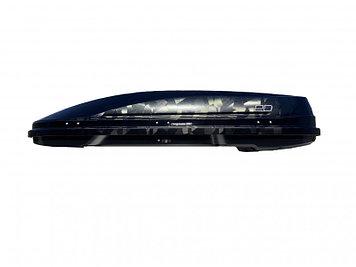 Бокс автомобильный Магнум 390 (чёрный,тиснение «камуфляж») (1850х840х420) Быстросъём