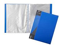 """Папка пластиковая """"Hatber"""", А4, 800мкм, 100 вкладышей, 40мм, серия """"Standard Синяя"""""""