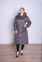 Куртка женская демисезонная  Evacana длинная серая