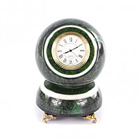 """Сувенирные часы """"Шар Антистресс"""" камень змеевик 10 см"""