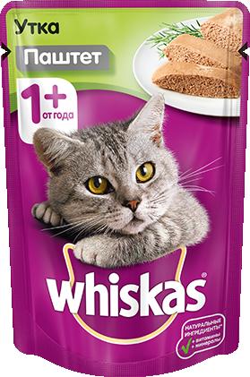 Whiskas c уткой в паштете