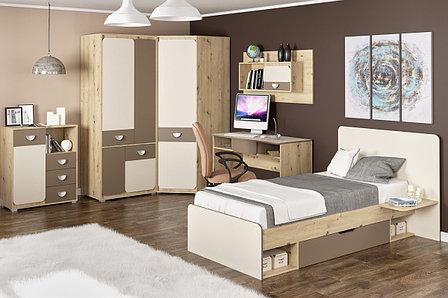 Кровать односпальная Лами, Латте/Шампань, MEBEL SERVICE (Украина), фото 2