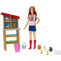 Набор игровой Barbie Кем быть Куриный фермер FXP15