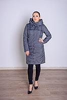 Куртка женская демисезонная Miegofce длинная серо-зеленая