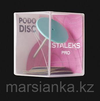 PPDset-25 Диск педикюрный пластиковый  STALEKS  L, с сменным файлом 180 грит 5 шт (25 мм)