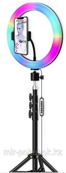Цветная RGB-подсветка 10-дюймовая светодиодная круглая лампа 26 см.