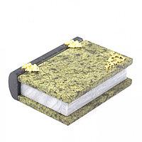 "Шкатулка ""Книжка"" камень змеевик средняя 11x14x4 см"