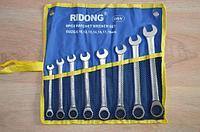 Набор Ridong рожково-накидных ключей с трещотками
