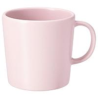 Кружка из каменной керамики IKEA ДИНЕРА светло-розовый, 300мл