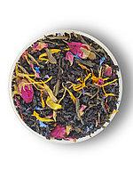 Чай черный байховый листовой с добавлением чая зеленого байхового с растительным сырьем и ароматом винограда
