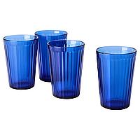 Набор стаканов из 4шт ИКЕА ВАРДАГЕН синий, 310мл