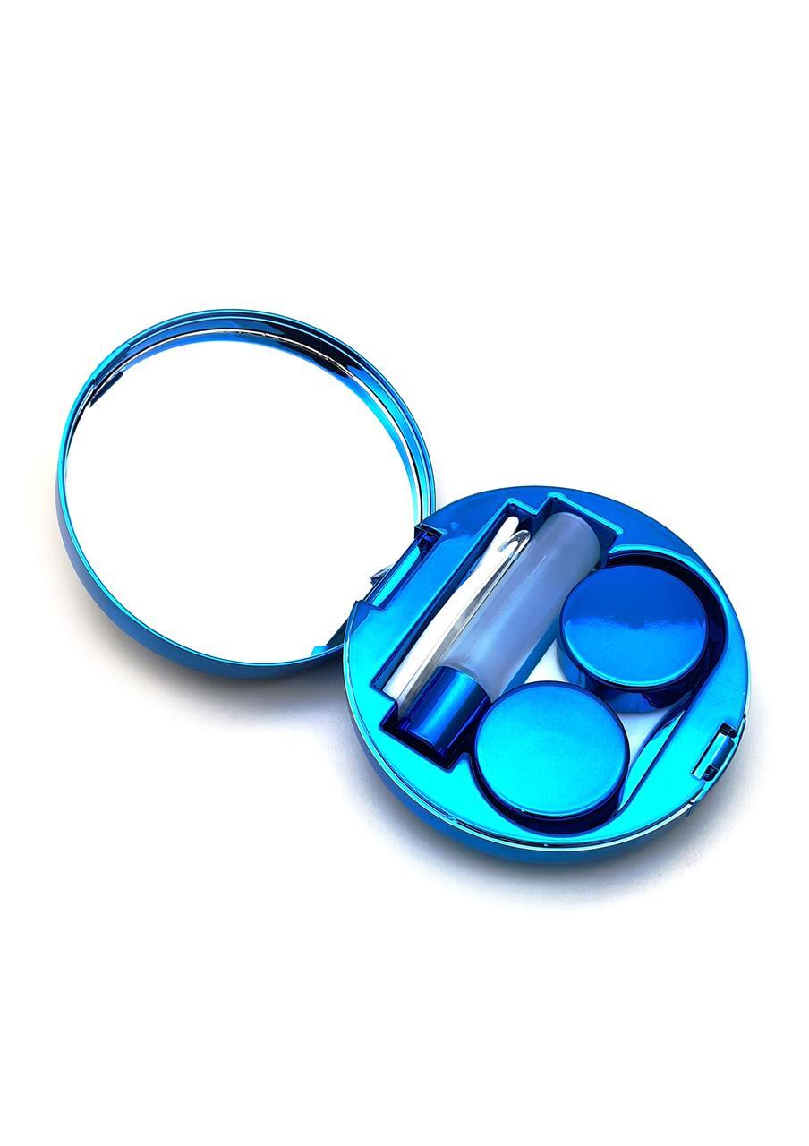 Дорожный набор для контактных линз, в футляре с зеркалом