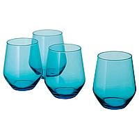 Набор стаканов из 4шт ИКЕА ИВРИГ бирюзовый, 450мл