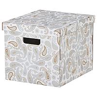 Коробка с крышкой IKEA СМЕКА, 33х38х30см