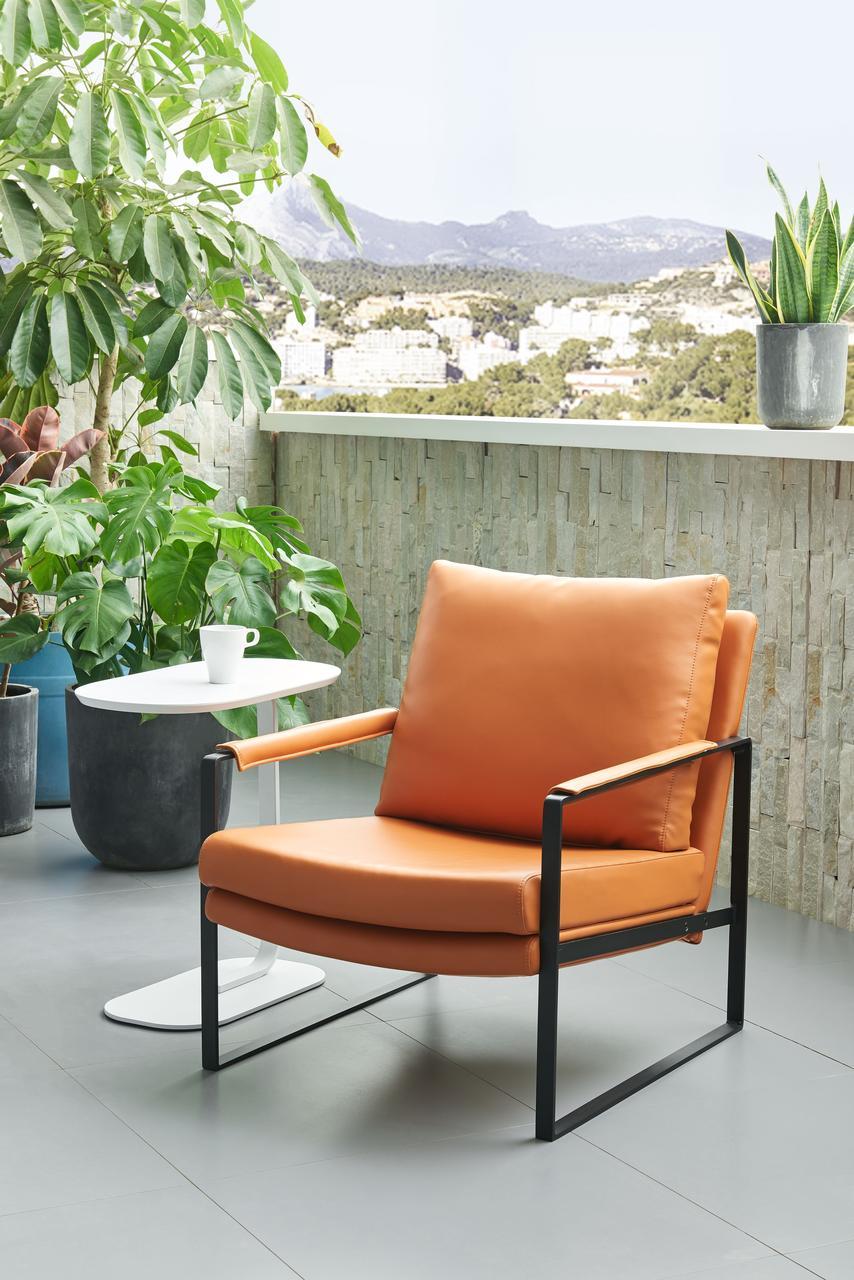 Дизайнерское офисное кресло c металлическим каркасом