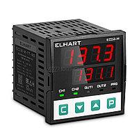 ECD2-L-TT-RS ПИД-регулятор 2-х канальный, 96x96,