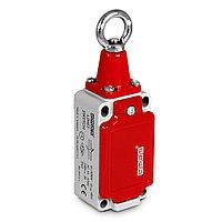 L52K23HUM112 Тросовый выключатель аварийной остановки со стальным кольцом с кнопкой фиксации, контроль