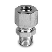 """OX 14 10 38 Фитинг угловой для трубок из нерж.стали, компрессионный, 10мм х R 3/8"""""""