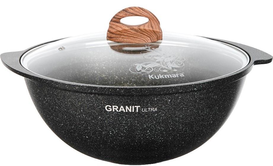 """Казан 4,5 литра """"Granit ultra"""" с каменным антипригарным покрытием"""