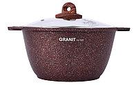 """Кастрюля 6 литров со стеклянной крышкой, """"Granit ultra"""" (red), фото 1"""