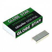 Скобы для степлера Globe Star №24/6, 1000 шт/кор