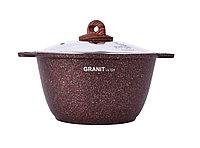 """Кастрюля 4 литра со стеклянной крышкой, """"Granit ultra"""" (red), фото 1"""