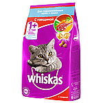 Whiskas с говядиной для стерилизованных кошек и кастрированных котов, уп.1.9 кг.