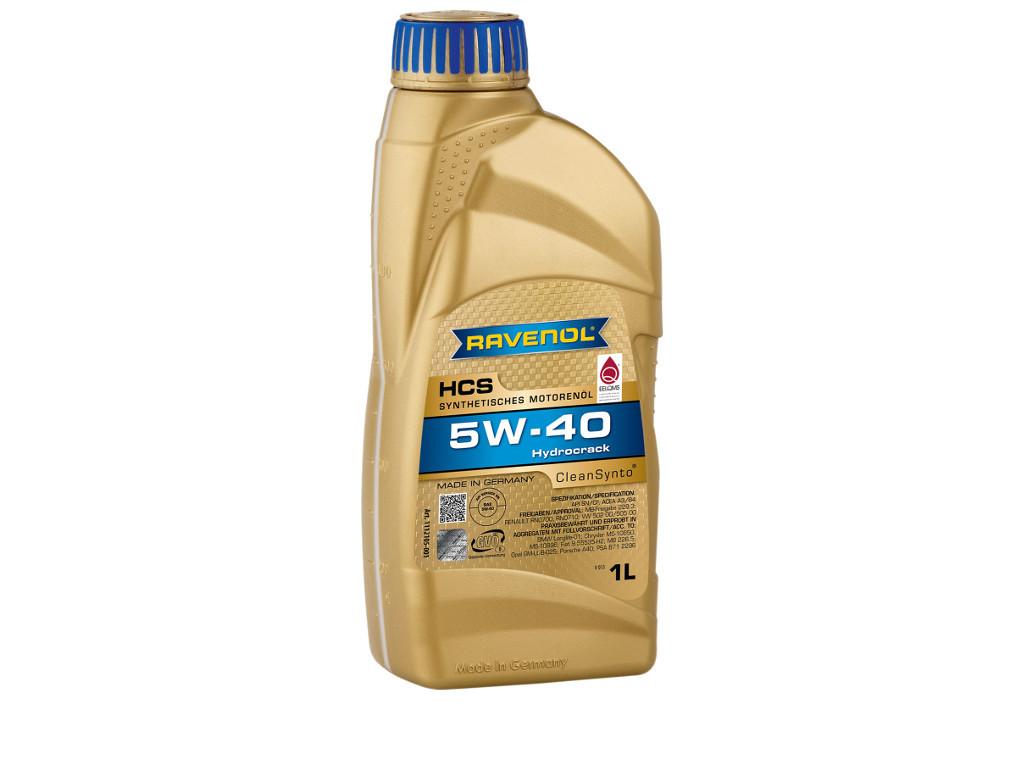 Масло моторное RAVENOL HCS SAE 5W-40, 1 л.