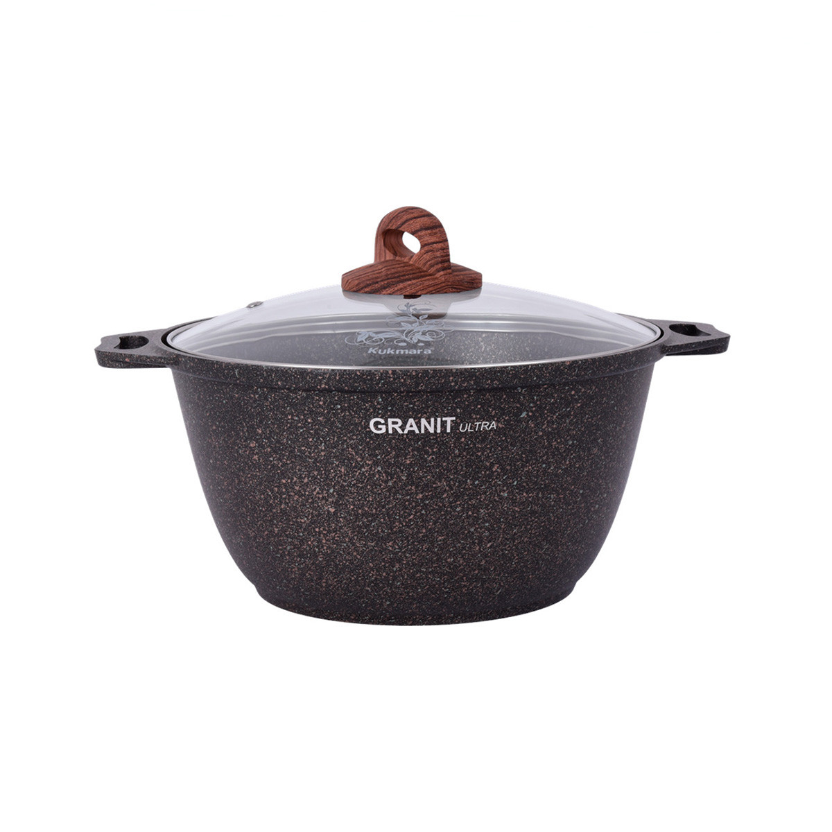 """Кастрюля 4 литра со стеклянной крышкой, """"Granit ultra"""""""