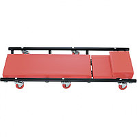 Лежак ремонтный на шести колесах, 1030 х 440 х 120 мм, поднимающийся подголовник Matrix