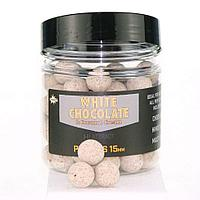 Плавающие бойлы Dynamite Baits Pop Ups 15мм (DY657=White Chocolate & Coconut Cream Pop крем.)