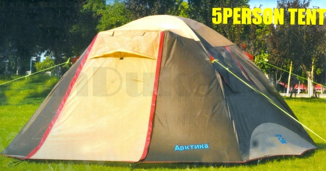 Пятиместная палатка автомат водонепроницаемая двухслойная 250*220*170 см Арктика 268- 5 Person tent - фото 2