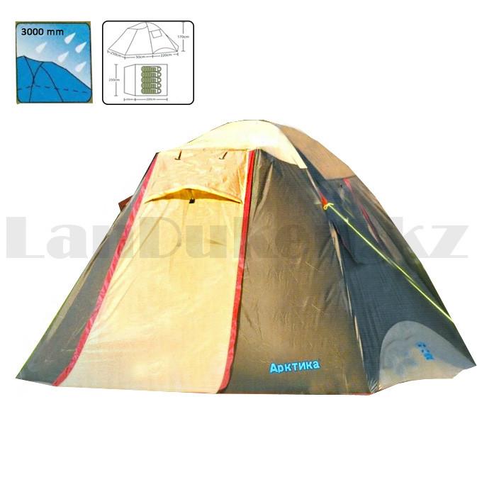Пятиместная палатка автомат водонепроницаемая двухслойная 250*220*170 см Арктика 268- 5 Person tent - фото 1