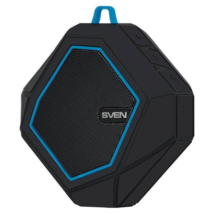 SVEN PS-77, black-blue (5W, Waterproof (IPx5), Bluetooth, microSD, FM, 600mA*h) /