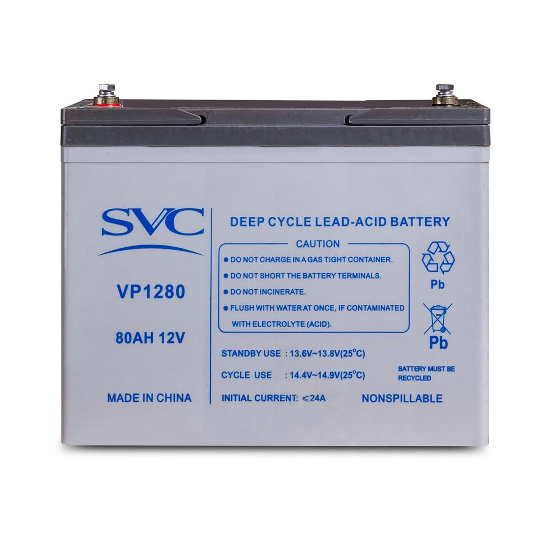 Аккумулятор SVC 12В 80 Ач