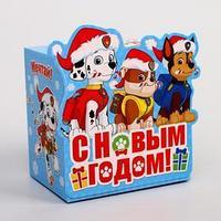 Подарочная коробка 'С Новым Годом!', PAW PATROL, 11 х 11 х 8 см (комплект из 5 шт.)