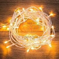 """LED гирлянда """"Нить"""" (""""Твинкл"""") - 4 метра, 25 лампочек, теплый-белый свет, мерцающая"""