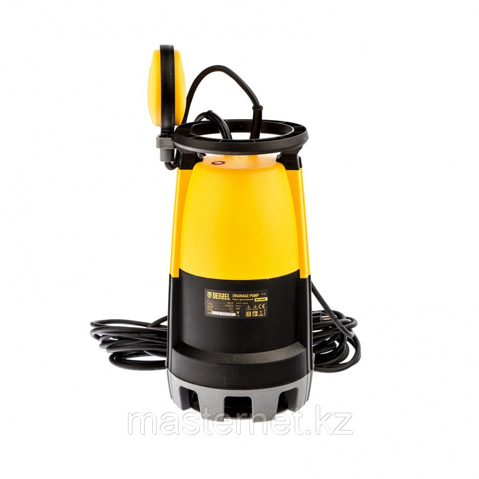 Дренажный насос для чистой и грязной воды DP-600S, 600 Вт, напор 7 м, 13000 л/ч// Denzel - фото 2