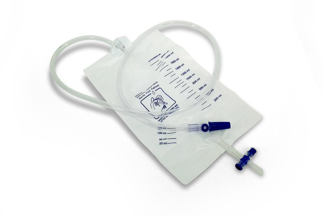 Мочеприемник стерильный 2000 мл с завязками однократного применения