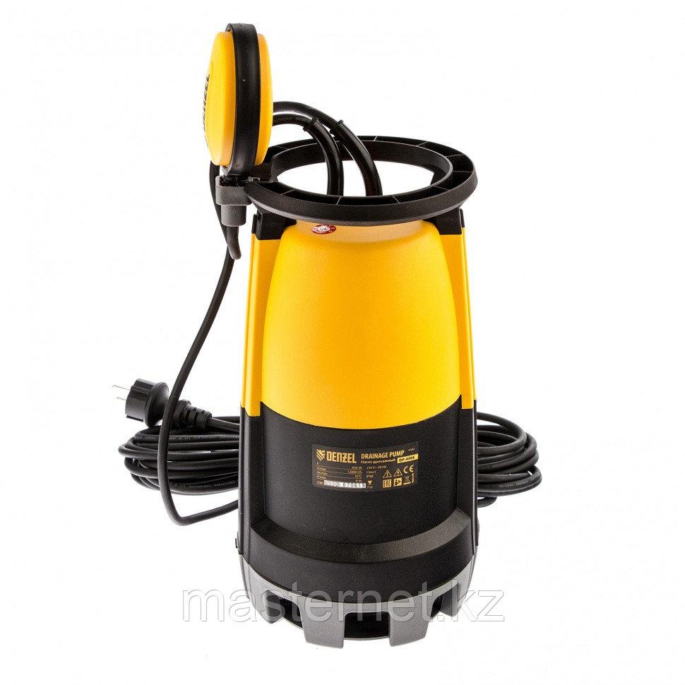 Дренажный насос для чистой и грязной воды DP-450S, 450 Вт, напор 6 м, 12000 л/ч// Denzel - фото 2