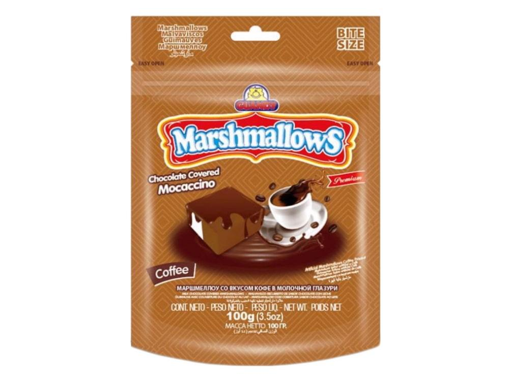 Маршмеллоу (Гуанди) в глазури кофейный 100г (8шт-упак)