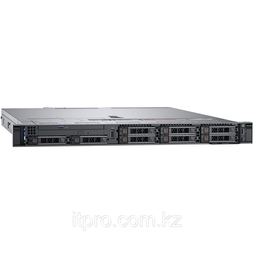 "Сервер Dell PowerEdge R340 PER340RU2-1 (1U Rack, Xeon E-2236, 3400 МГц, 6 ядер, 12 МБ, 1x 16 ГБ, SFF 2.5"", 8"