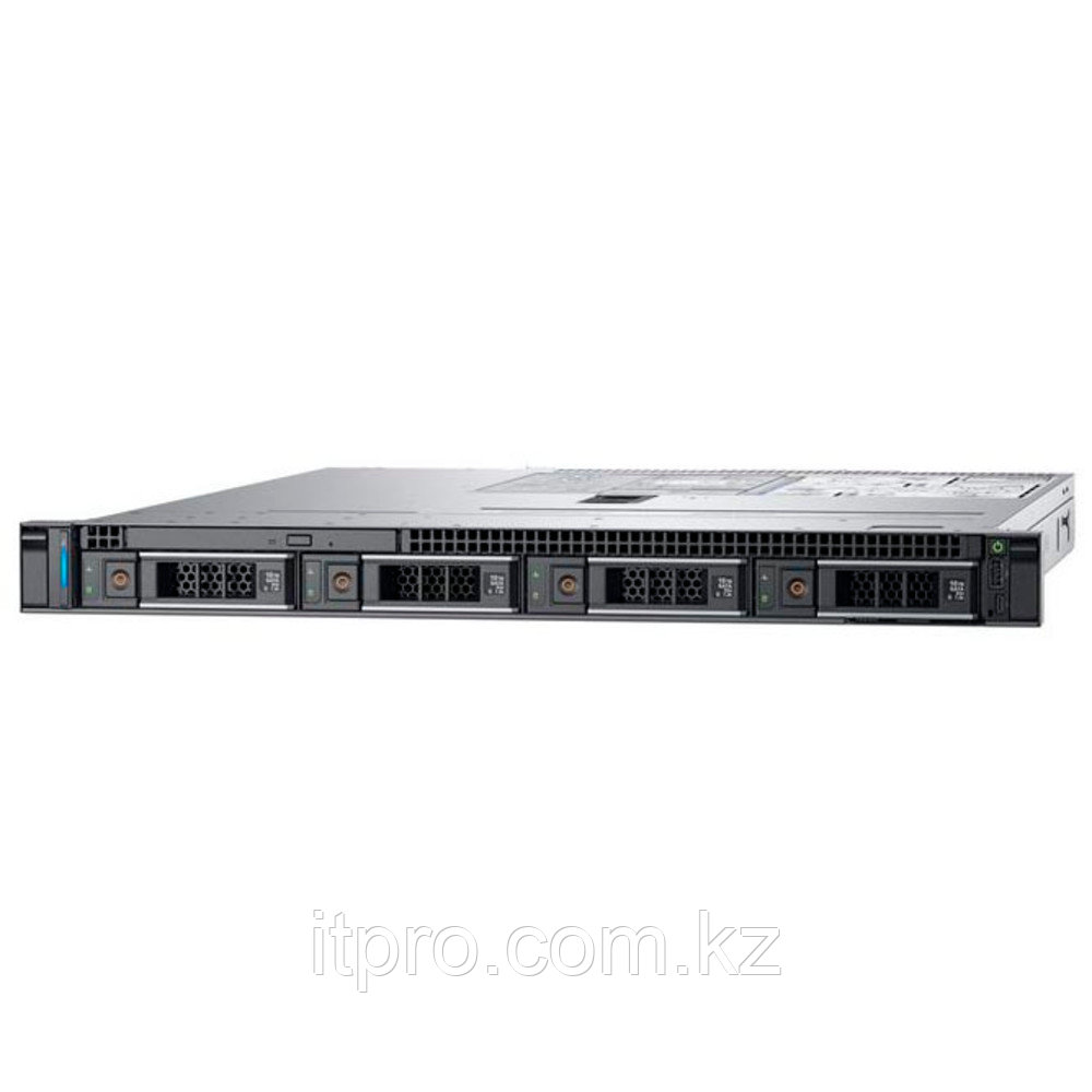 "Сервер Dell PowerEdge R340 PER340RU2 (1U Rack, Xeon E-2224, 3400 МГц, 4 ядра, 8 МБ, 1x 16 ГБ, LFF 3.5"", 4 шт,"
