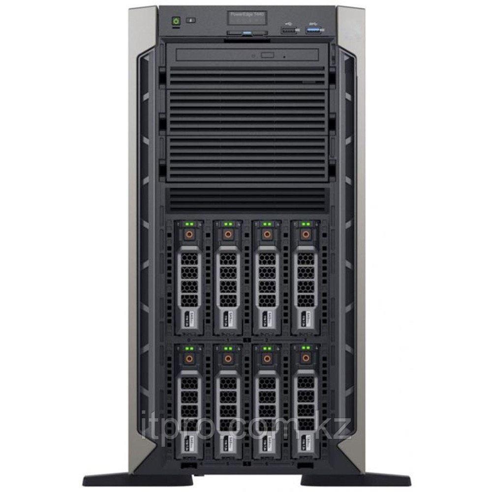 "Сервер Dell PowerEdge T440 T440-SPOF (Tower, Xeon Silver 4208, 2100 МГц, 8 ядер, 11 МБ, 1x 16 ГБ, LFF 3.5"", 8"