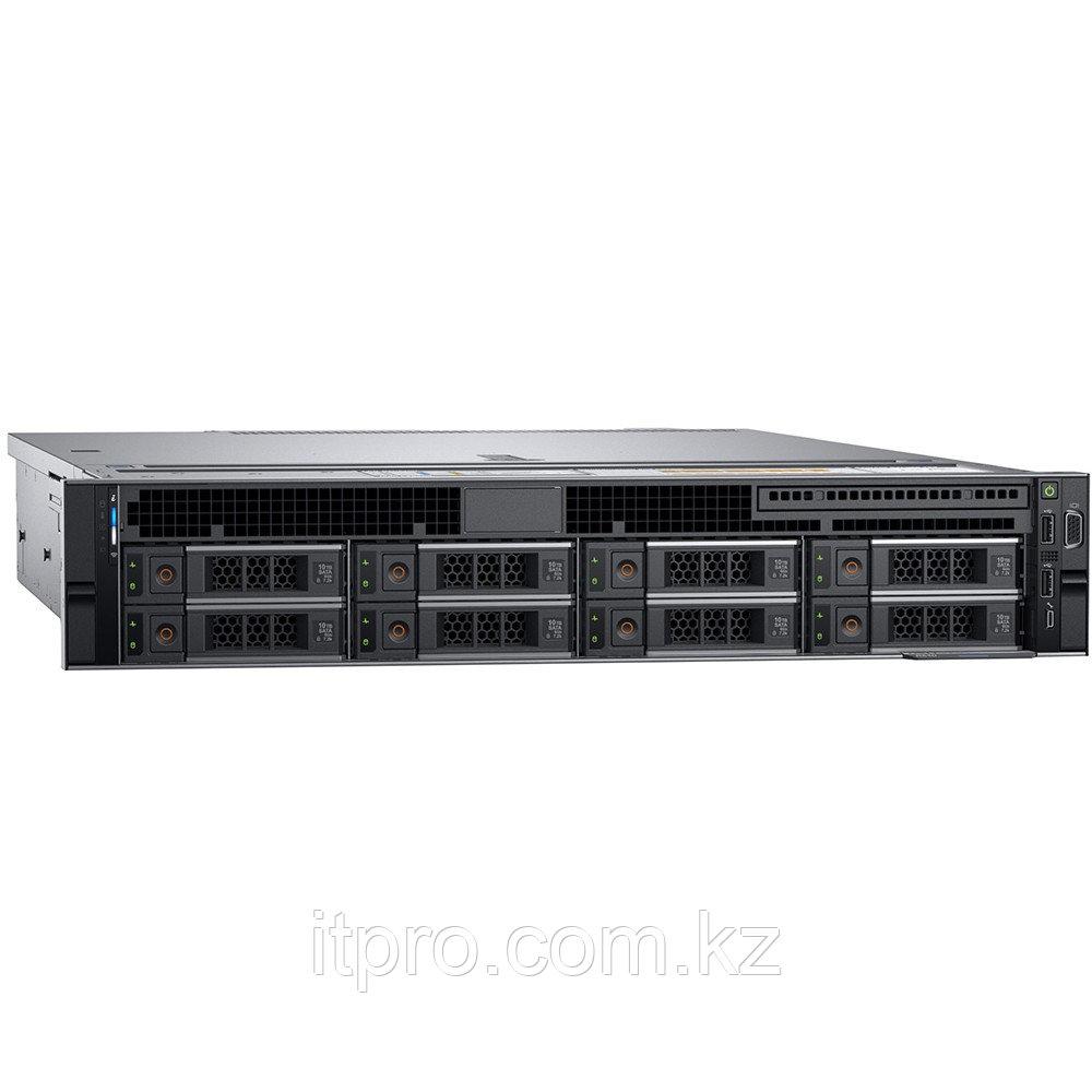 Сервер Dell PowerEdge R540 PER540RU1-06 (2U Rack, Xeon Silver 4210R, 2400 МГц, 10 ядер, 13.75 MБ, 1x 16 ГБ,