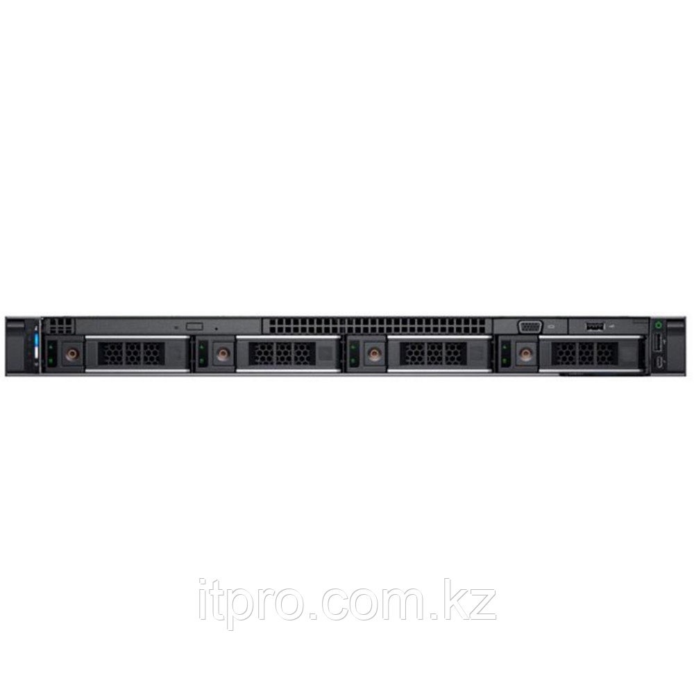 Сервер Dell PowerEdge R440 PER440RU1-03 (1U Rack, Xeon Silver 4210, 2200 МГц, 10 ядер, 13.75 MБ, 1x 16 ГБ, LFF