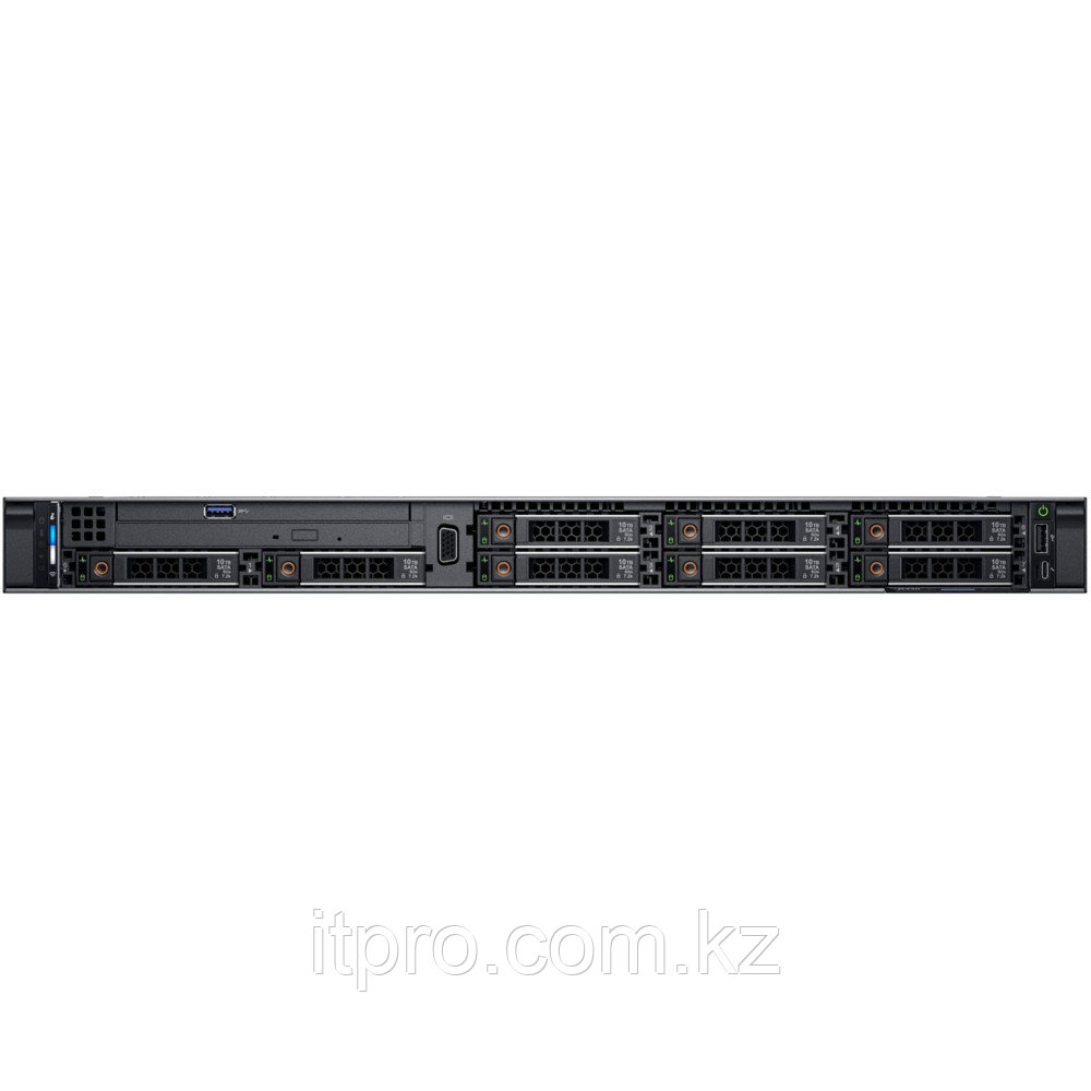 Сервер Dell PowerEdge R640 R640-8592-3 (1U Rack, Xeon Silver 4214, 2200 МГц, 12 ядер, 16.5 МБ, 1x 16 ГБ, SFF