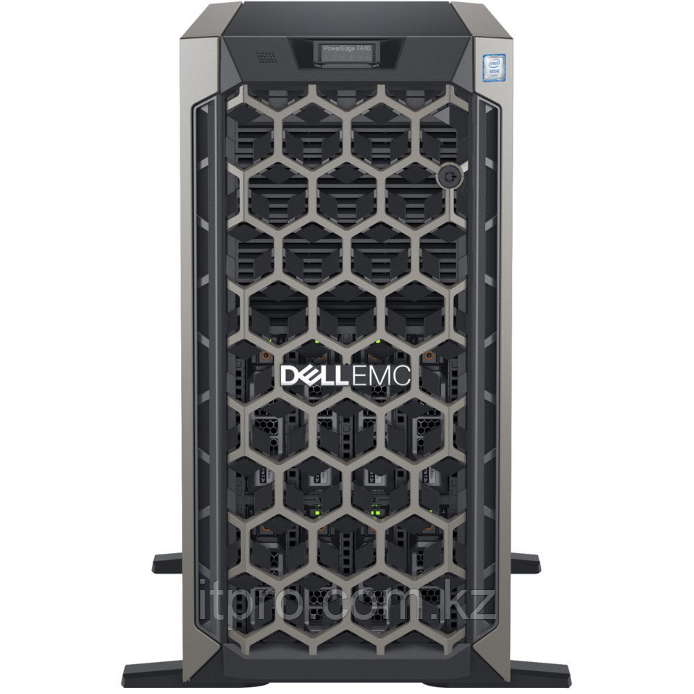 Сервер Dell PowerEdge T440 210-AMEI-21 (Tower, Xeon Gold 5215, 2500 МГц, 10 ядер, 13.75 MБ, 2x 16 ГБ, LFF