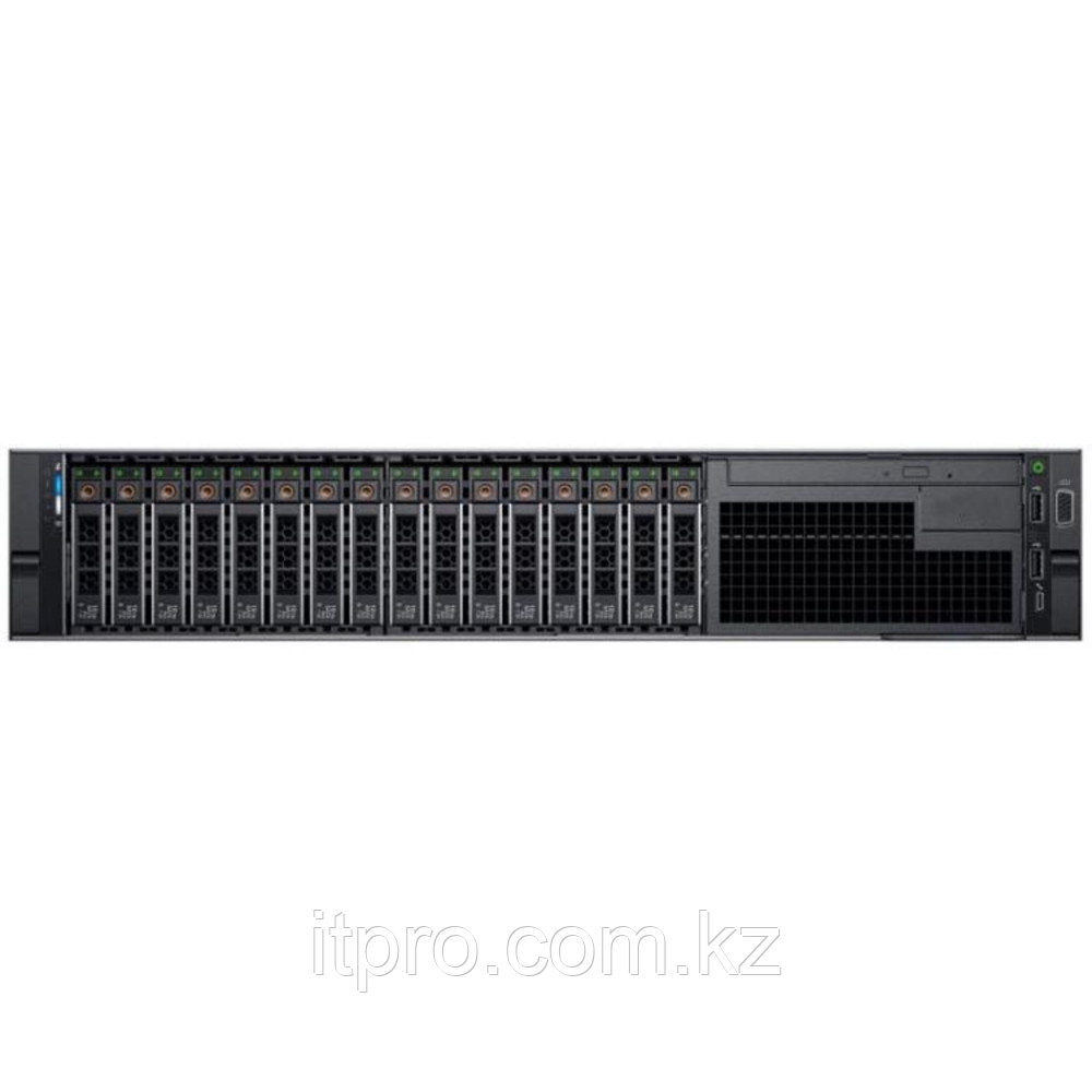 Сервер Dell PowerEdge R740 210-AKXJ-329 (2U Rack, Xeon Silver 4210R, 2400 МГц, 10 ядер, 13.75 MБ, 2x 32 ГБ,