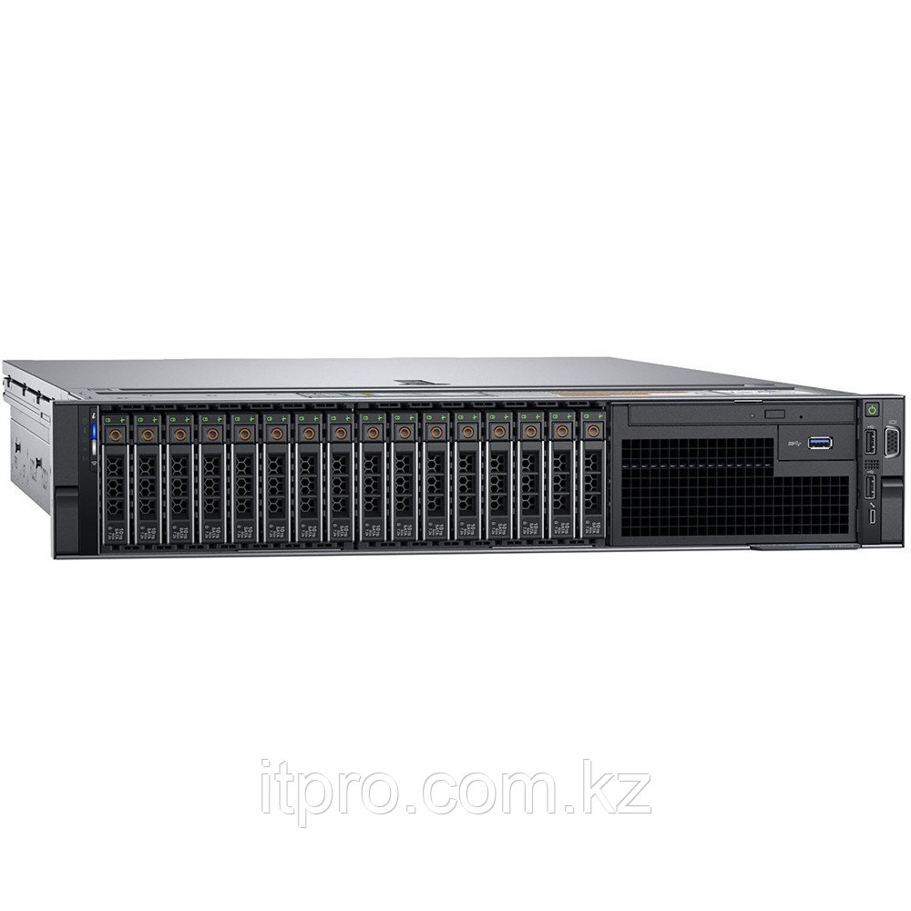 Сервер Dell PowerEdge R740 210-AKXJ-279 (2U Rack, Xeon Gold 5217, 3000 МГц, 8 ядер, 11 МБ, 24x 16 ГБ, SFF